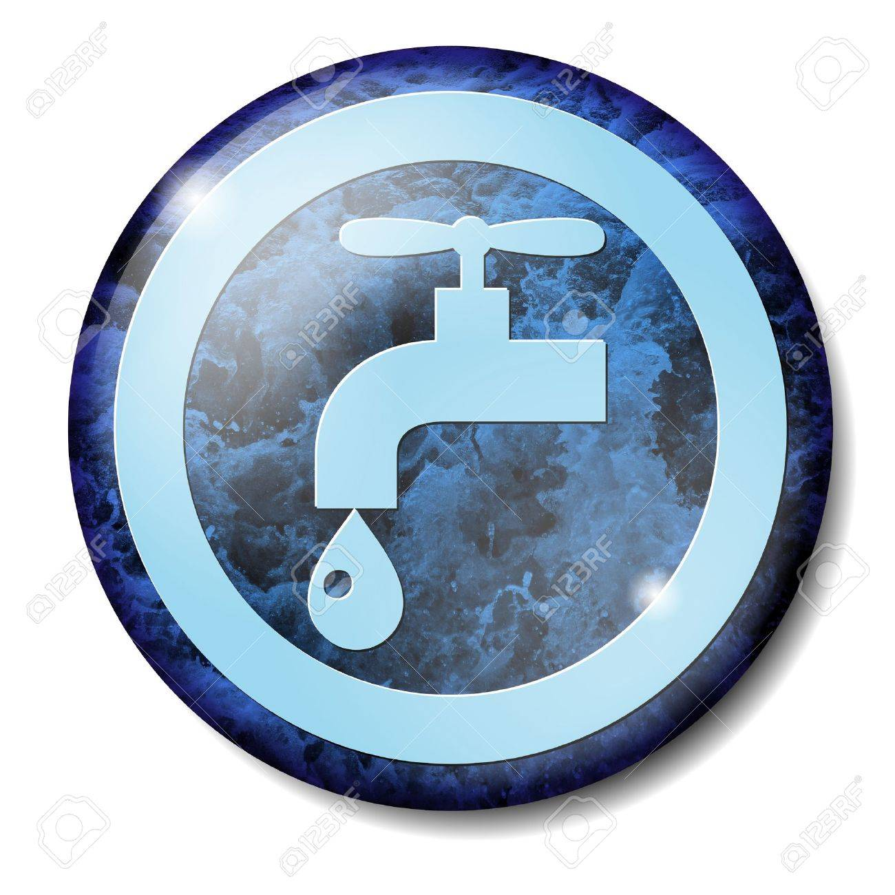 Sign for drinking water in light blue Stock Photo - 7413661