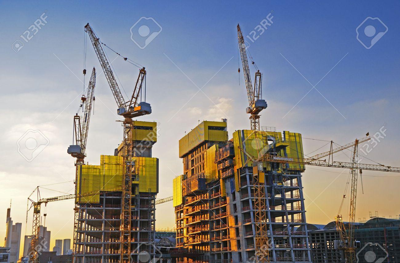 Big construction site A big construction site with cranes Stock Photo - 12320492