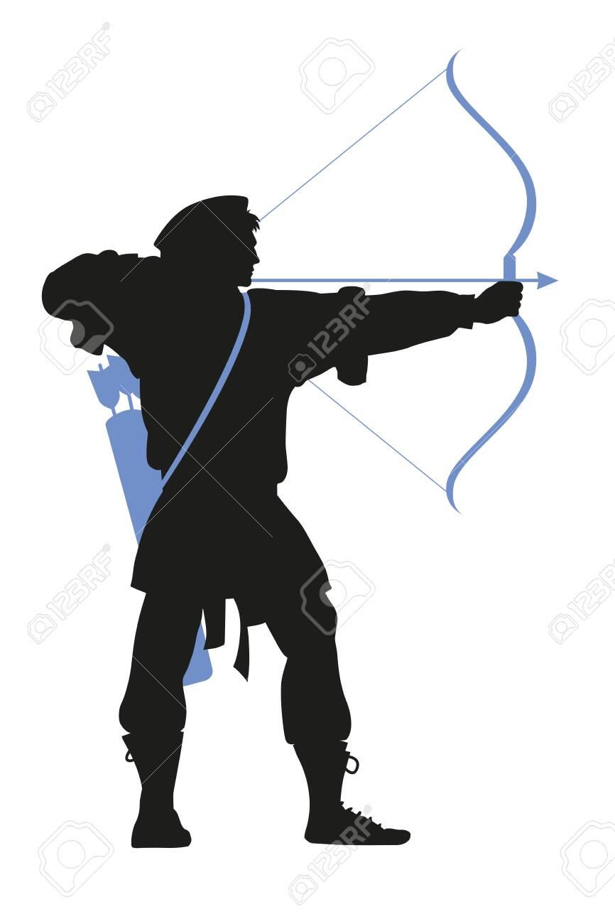 historic archer, bowman silhouette - 122354317