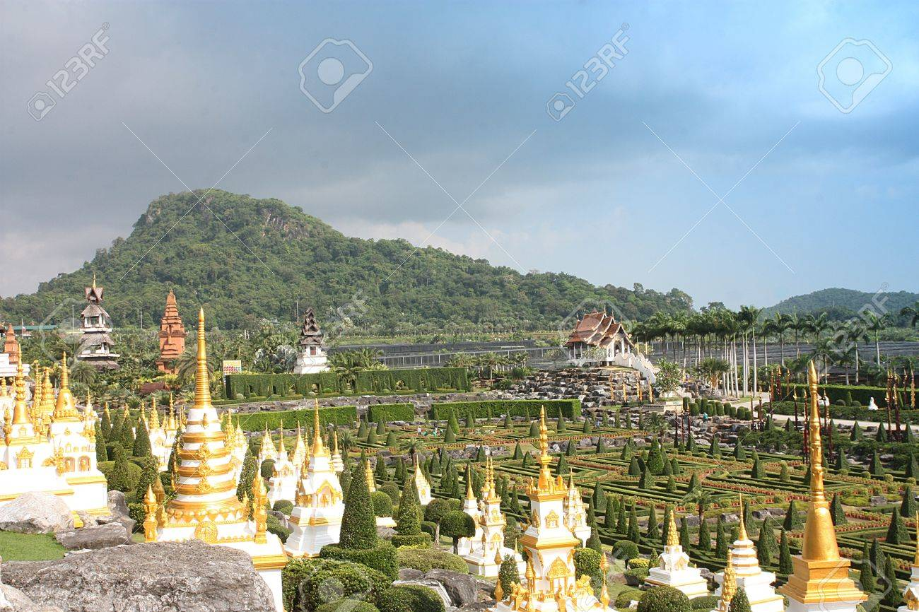 Nong Nooch Tropical Garden With Thai Style Architecture in Pattaya ,Thailand Stock Photo - 16276722