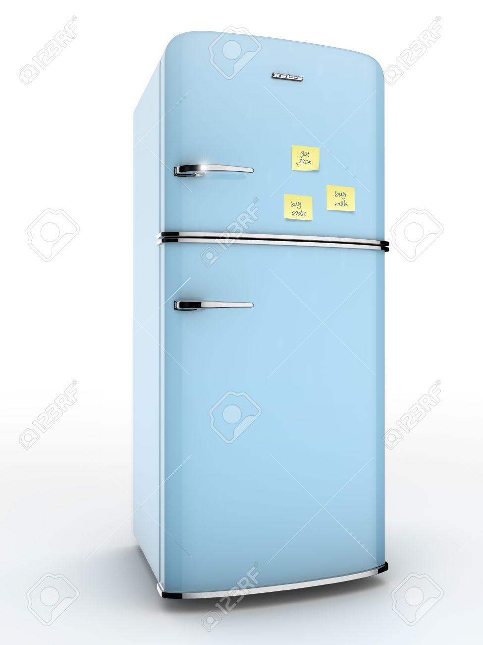 Blaue Retro Kühlschrank Lizenzfreie Fotos, Bilder Und Stock ...