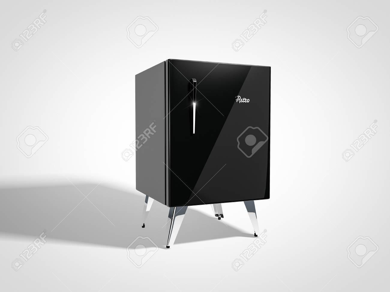 Kühlschrank Retro Schwarz : Schwarz retro kühlschrank lizenzfreie fotos bilder und stock
