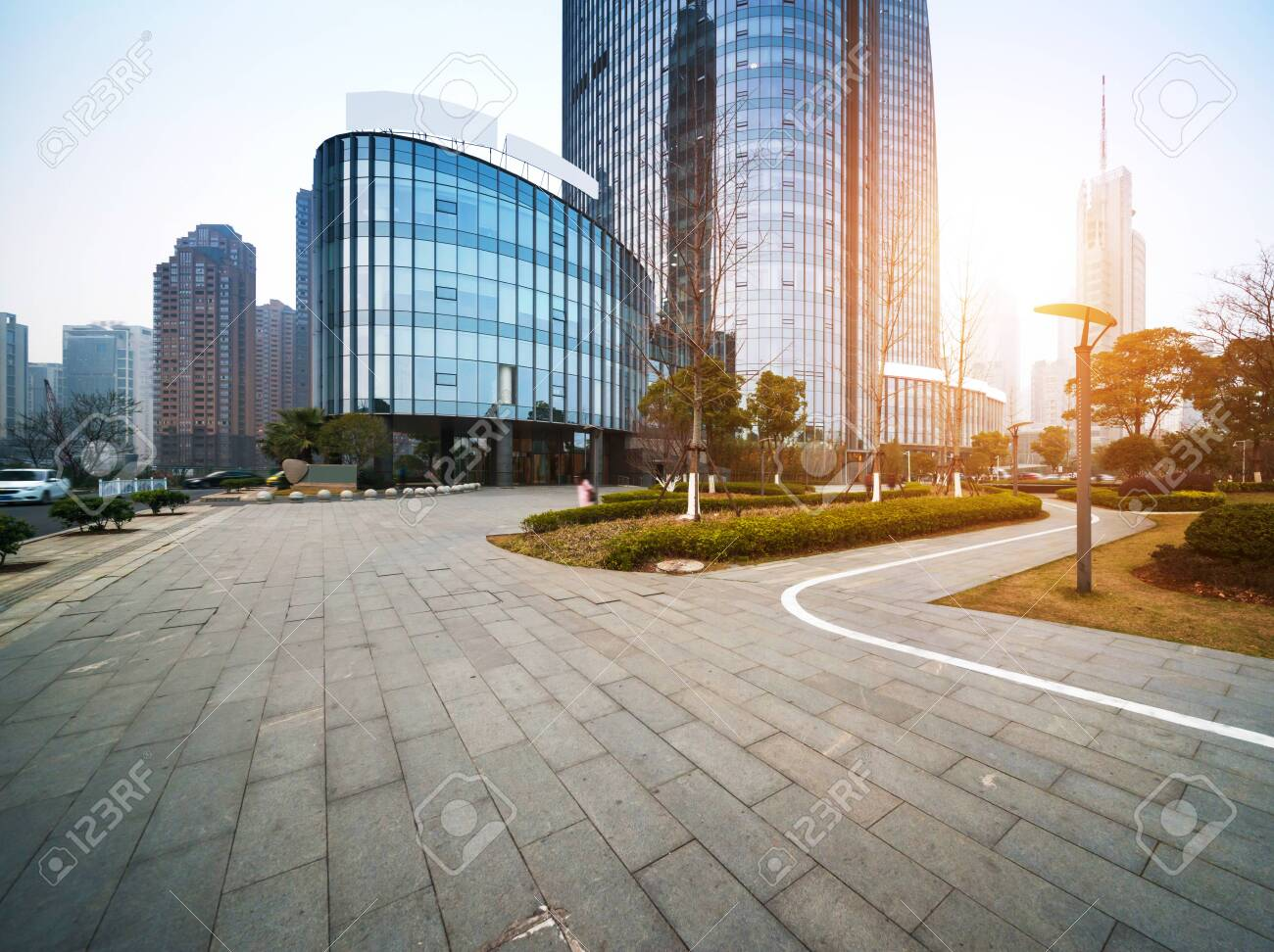 the modern building of the lujiazui financial centre in shanghai china - 139002976