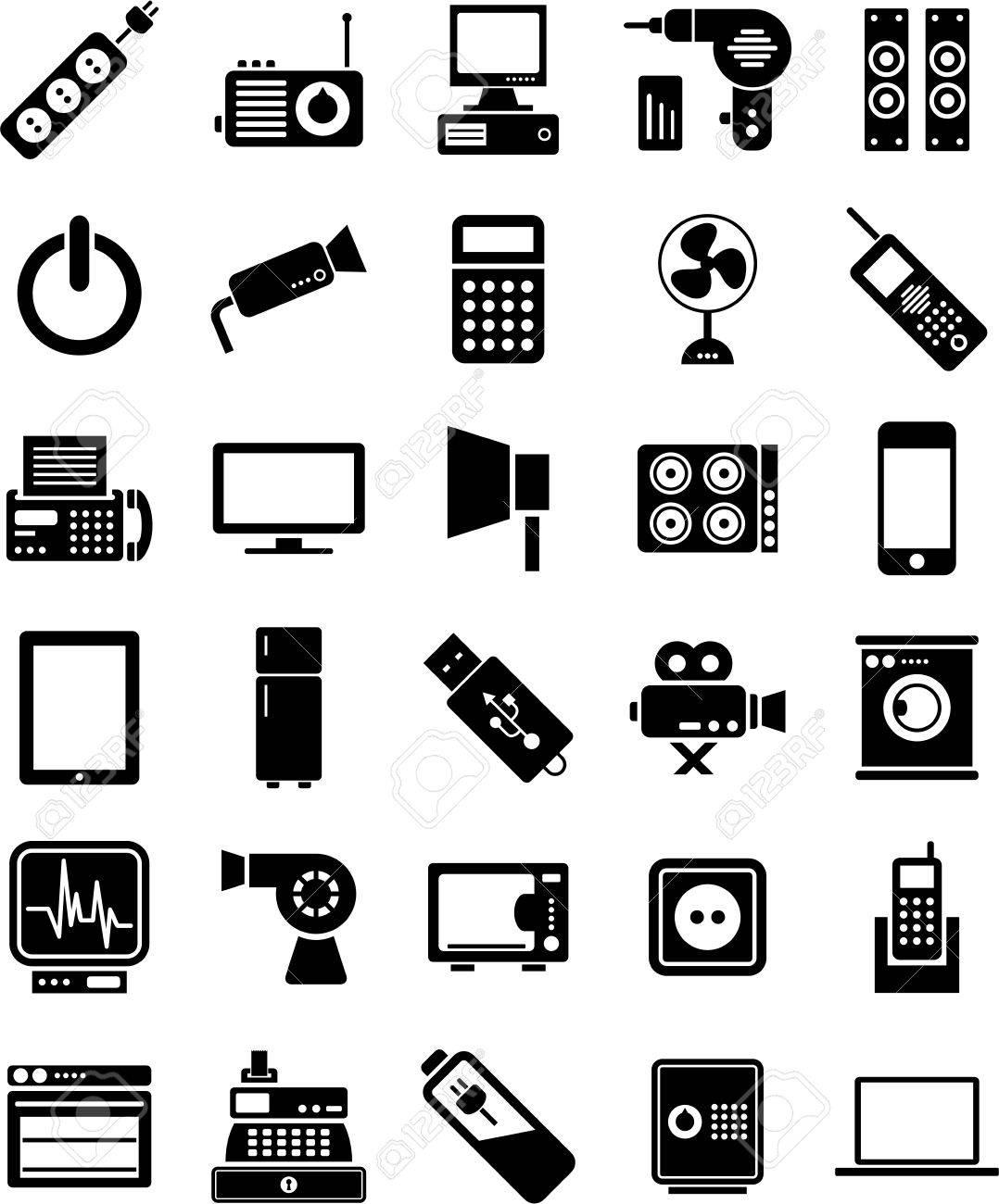 Elektronische Geräte Symbole Lizenzfrei Nutzbare Vektorgrafiken ...