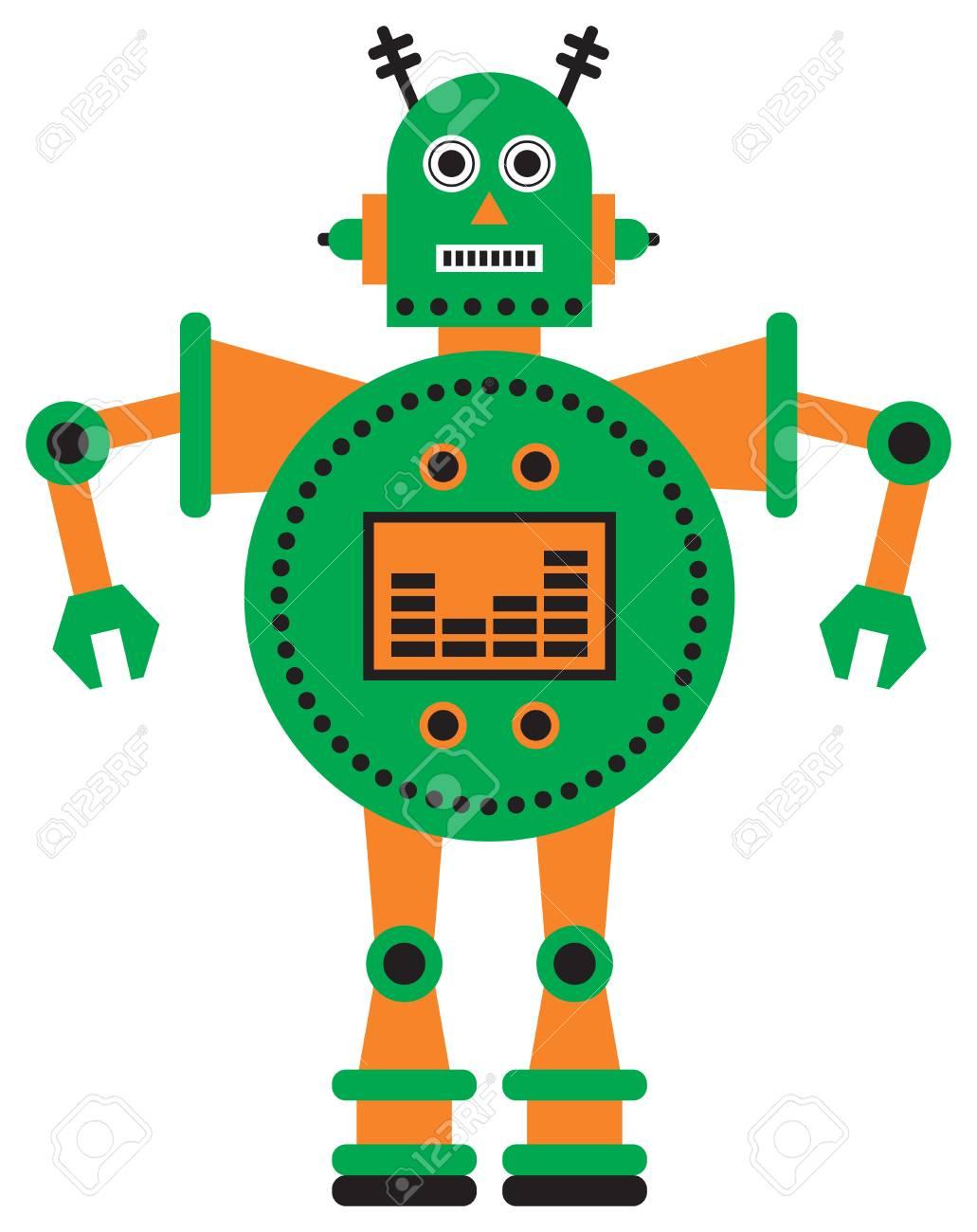 robot vector illustration royalty free cliparts vectors and stock rh 123rf com robot vector paths robot vectoriel
