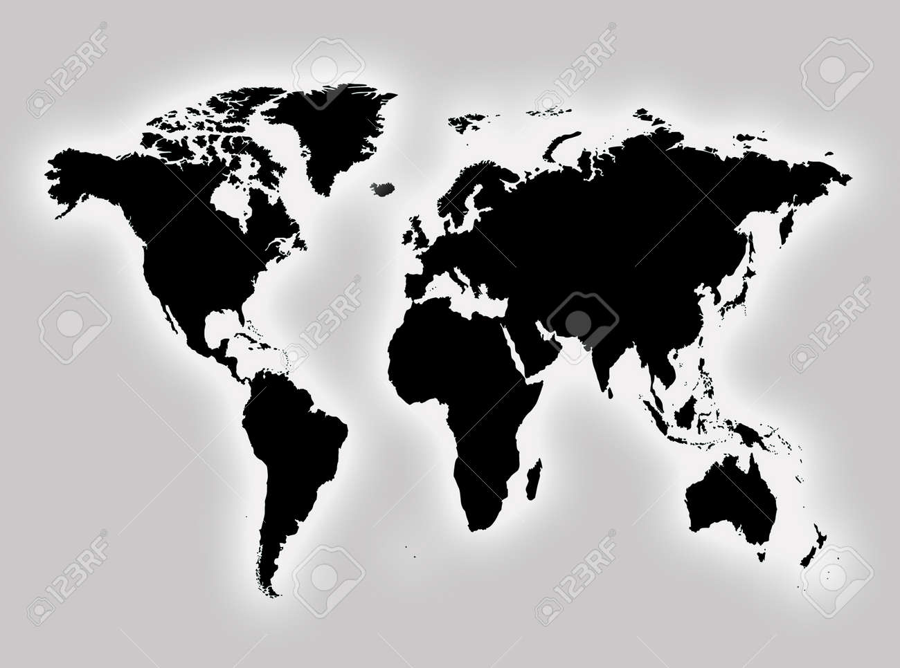 World Map To Represent Countries And Continents Stock Photo, Picture ...
