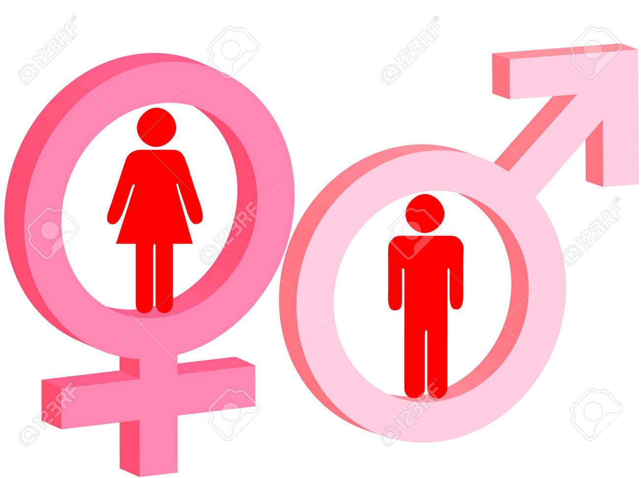 Für frau und symbol mann Frau