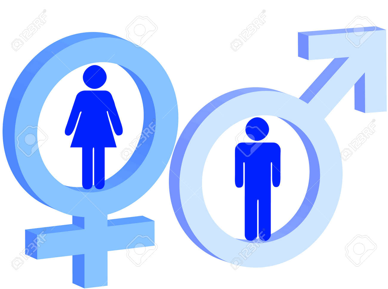 Signo De Hombre Y Mujer Como Símbolo De Hombre Y Mujer Fotos