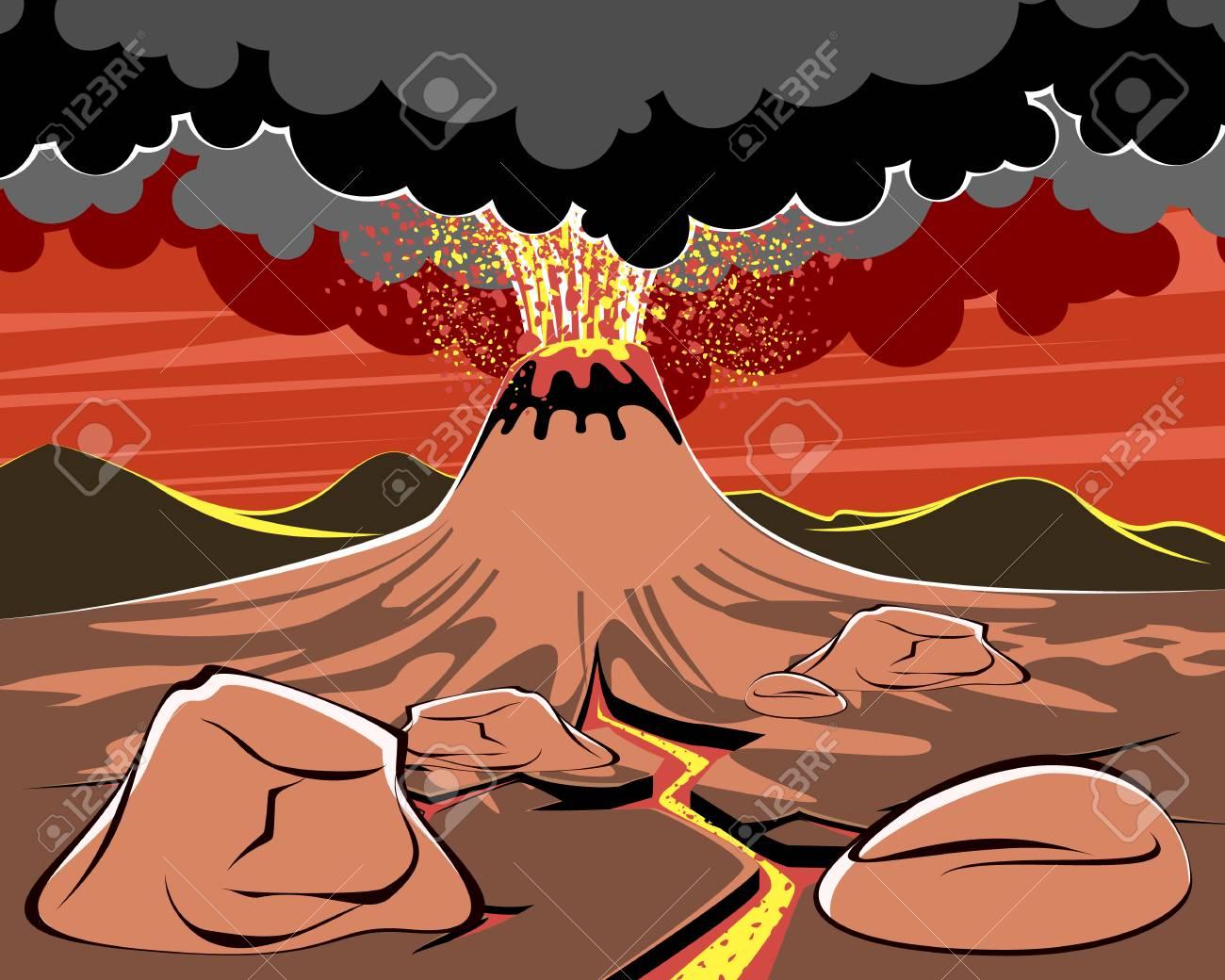 Volcano Eruption Illustration - Download Free Vectors, Clipart Graphics &  Vector Art