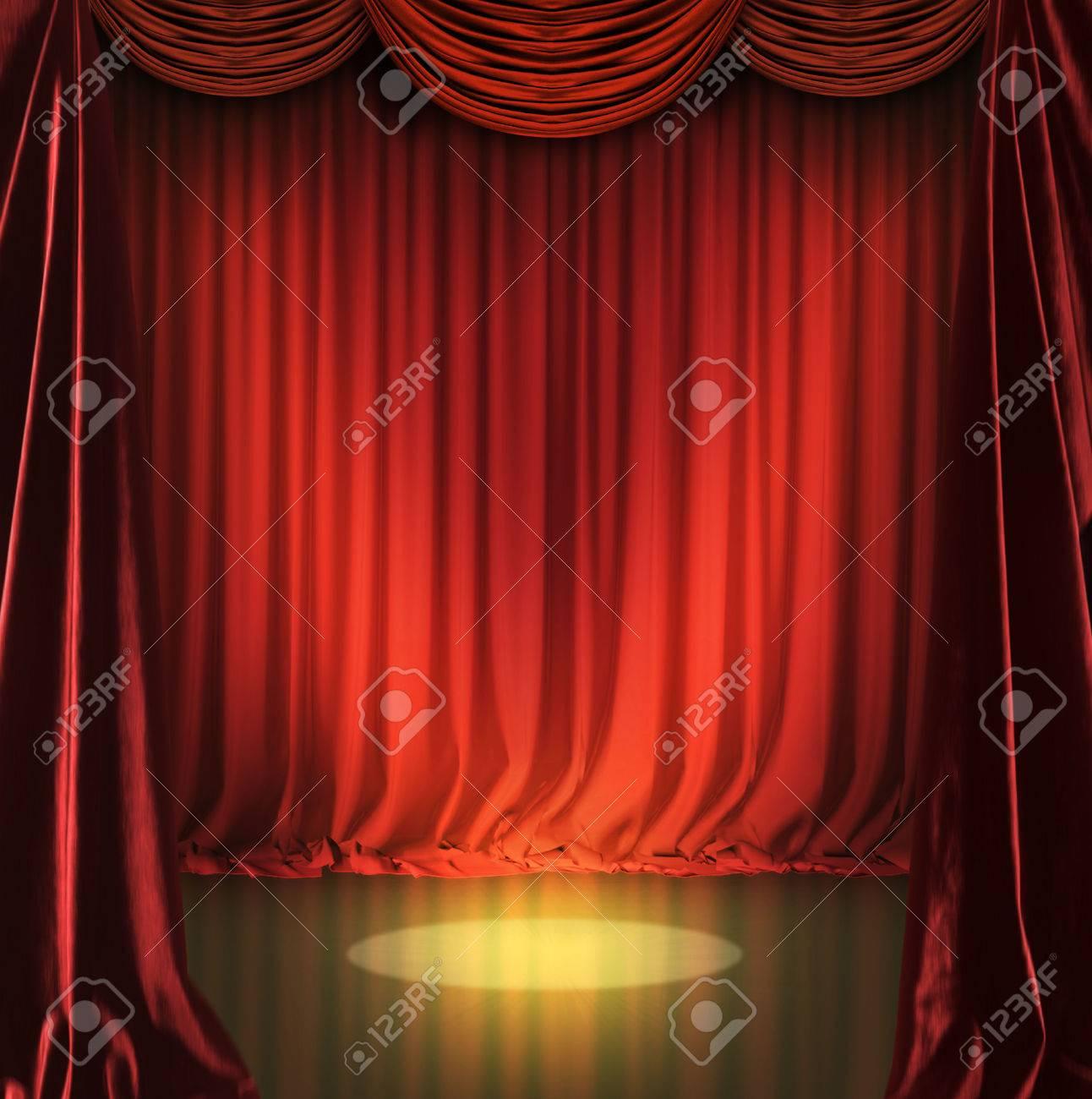 teatro escenario con cortinas rojas foto de archivo