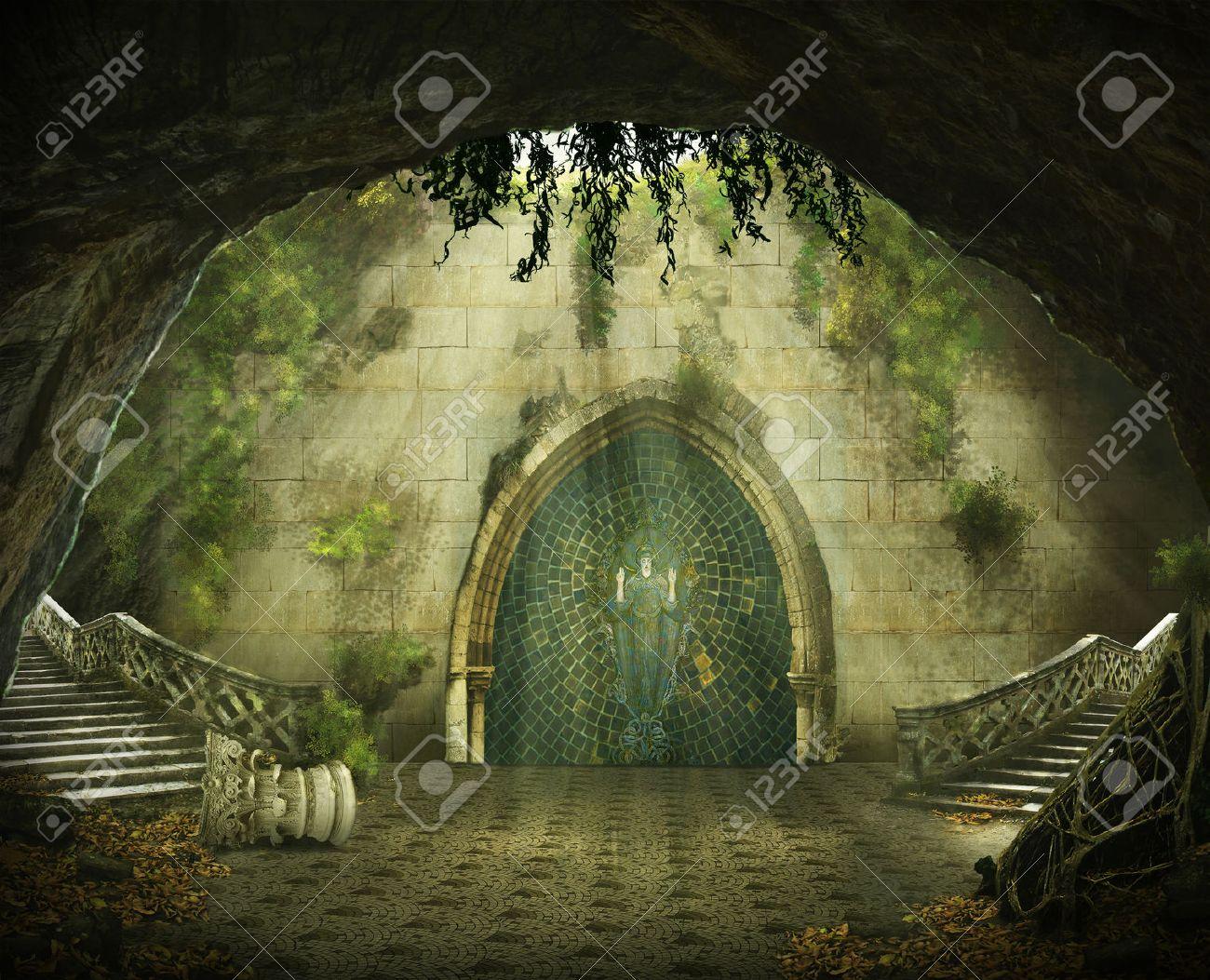 Risultati immagini per grotta con castello