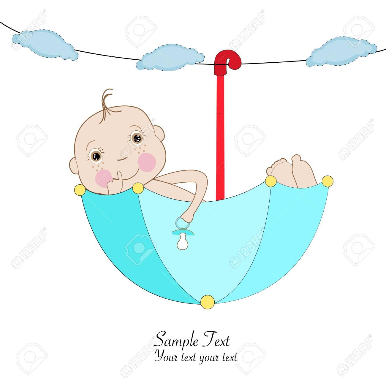 Baby boy greeting card umbrella greeting card royalty free cliparts baby boy greeting card umbrella greeting card stock vector 38576181 m4hsunfo