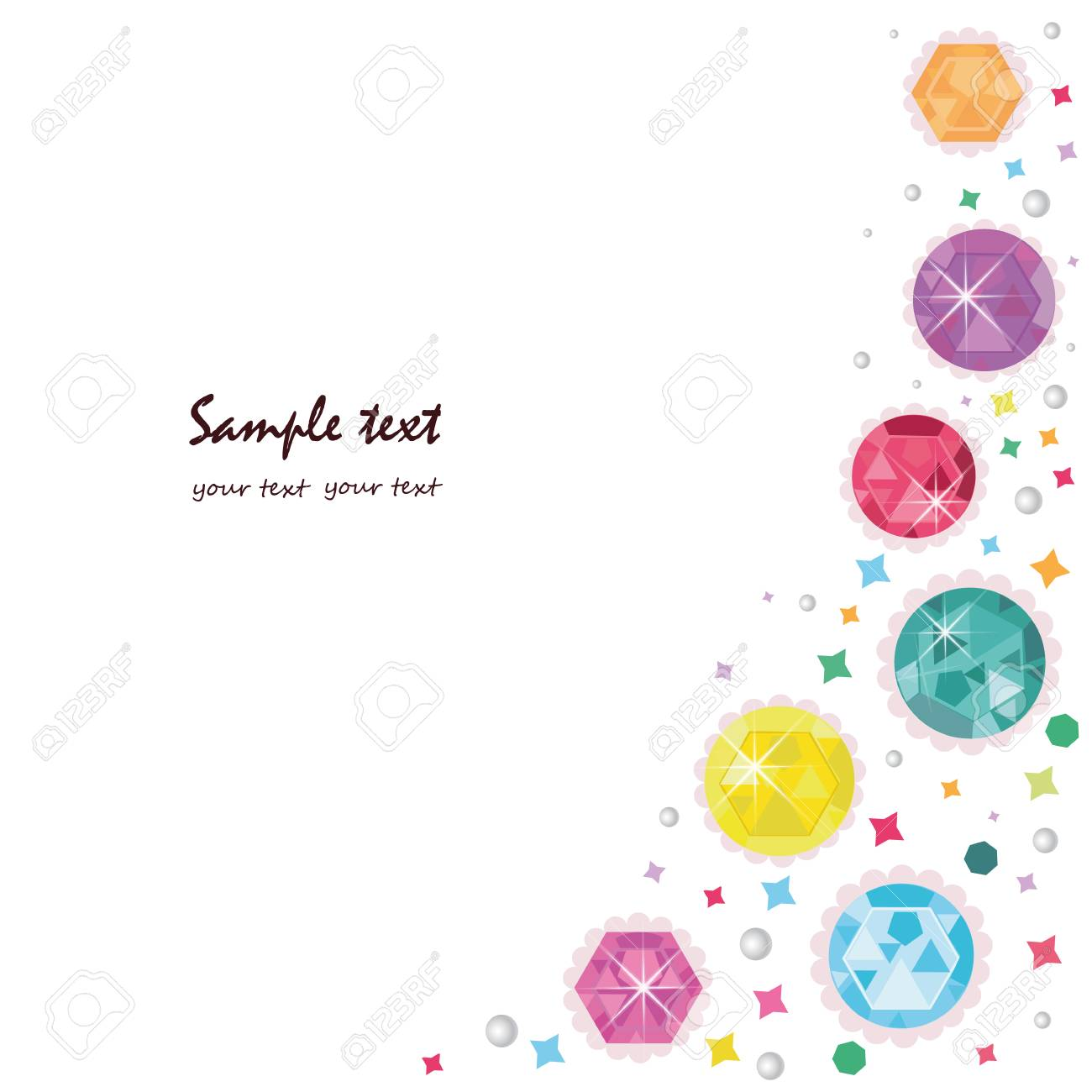 Colorful diamonds greeting card vector background - 40260817