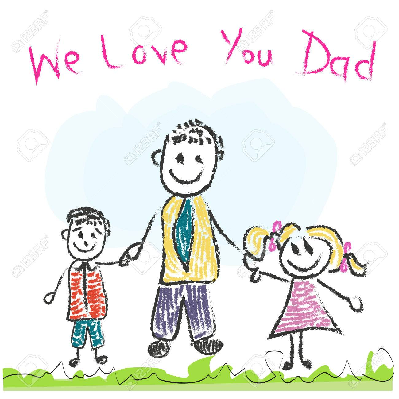 We love you dad fathers day greeting card royalty free cliparts vector we love you dad fathers day greeting card m4hsunfo