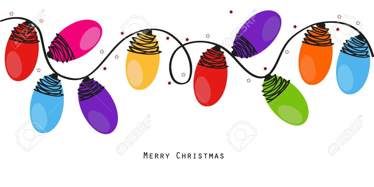 Colorful Christmas light bulbs vector background - 46578120
