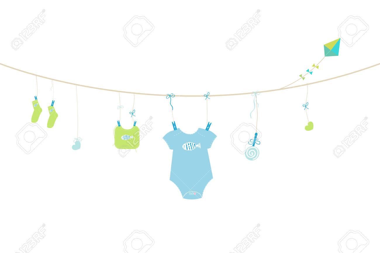 Newborn baby boy baby arrival greeting card symbols vector royalty newborn baby boy baby arrival greeting card symbols vector stock vector 47878769 m4hsunfo