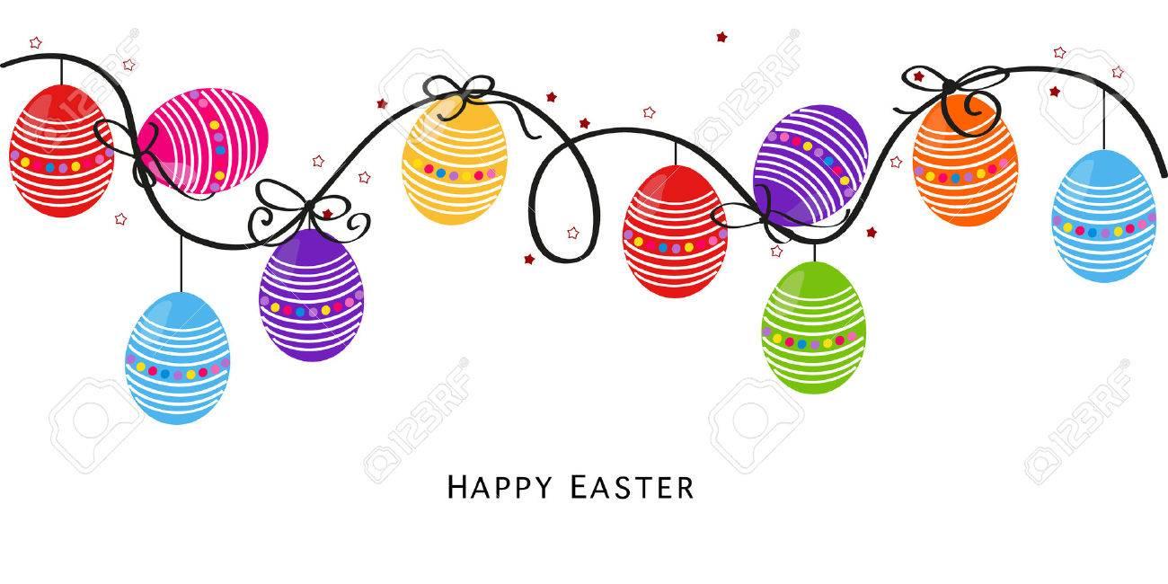 Colorful Easter Design Easter background vector Egss - 50327142
