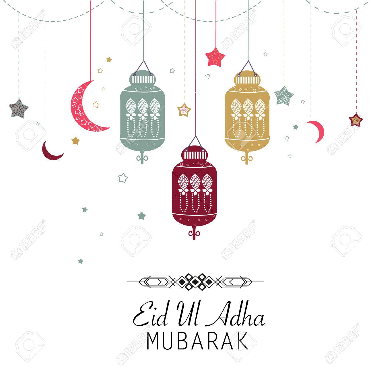 Islamic Festival Of Sacrifice, Eid-Al-Adha Celebration Greeting ... for islamic lantern clipart  75sfw