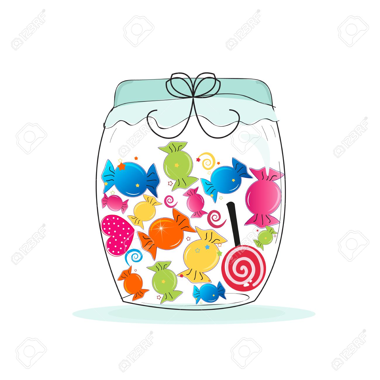 jar of candy colorful sweet candy vector illustration royalty free rh 123rf com candy vector logo candy vector logo