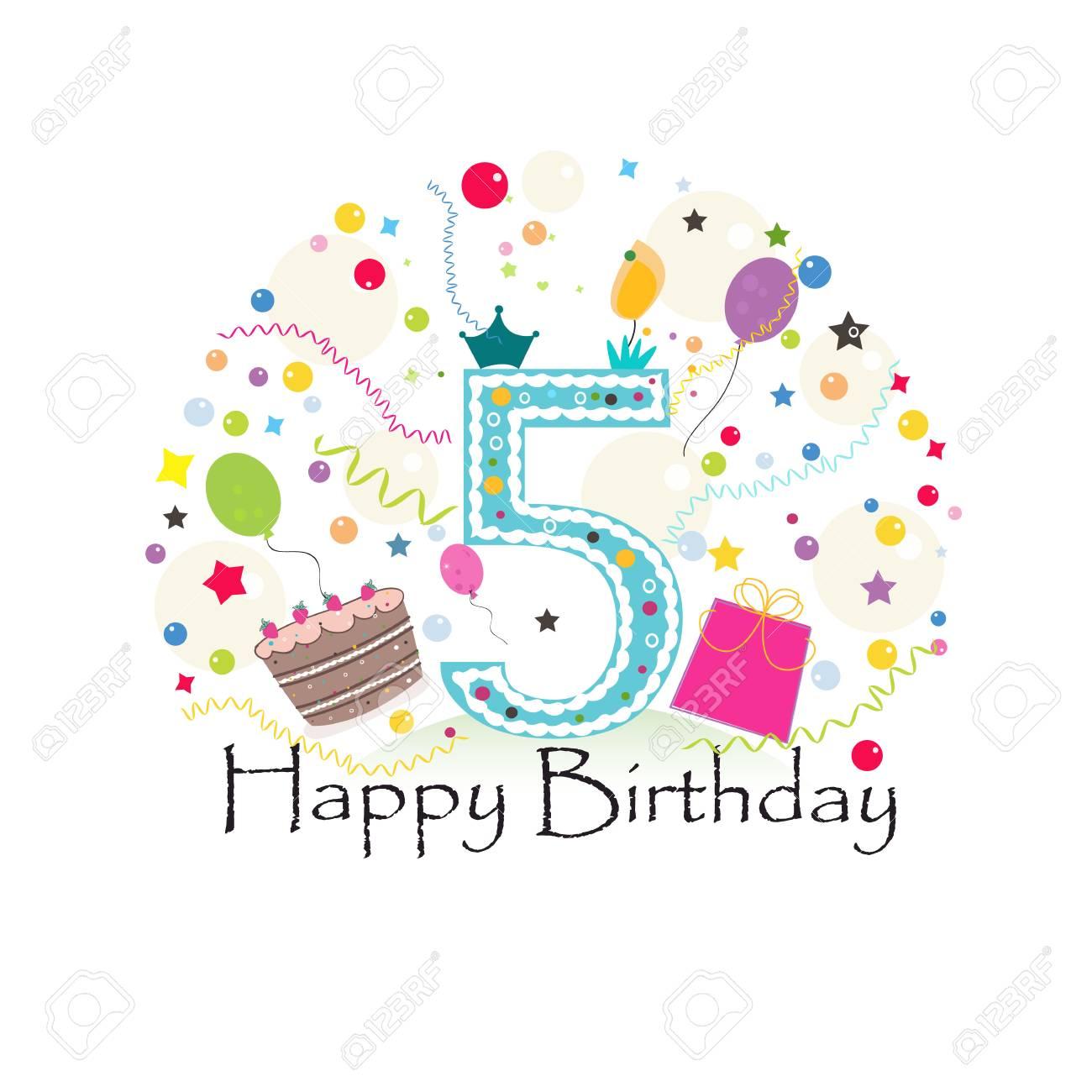 Birthday cake with gift box. Birthday greeting card - 109848674
