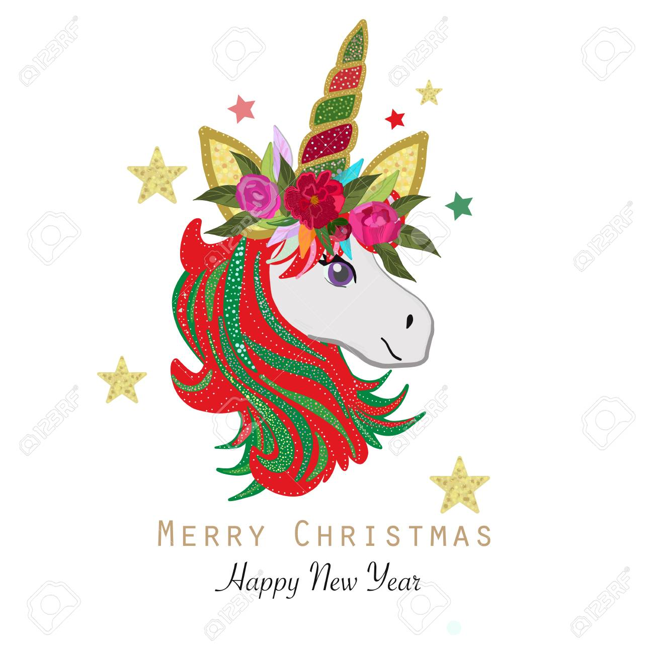 merry christmas and happy new year stock vector 112140285