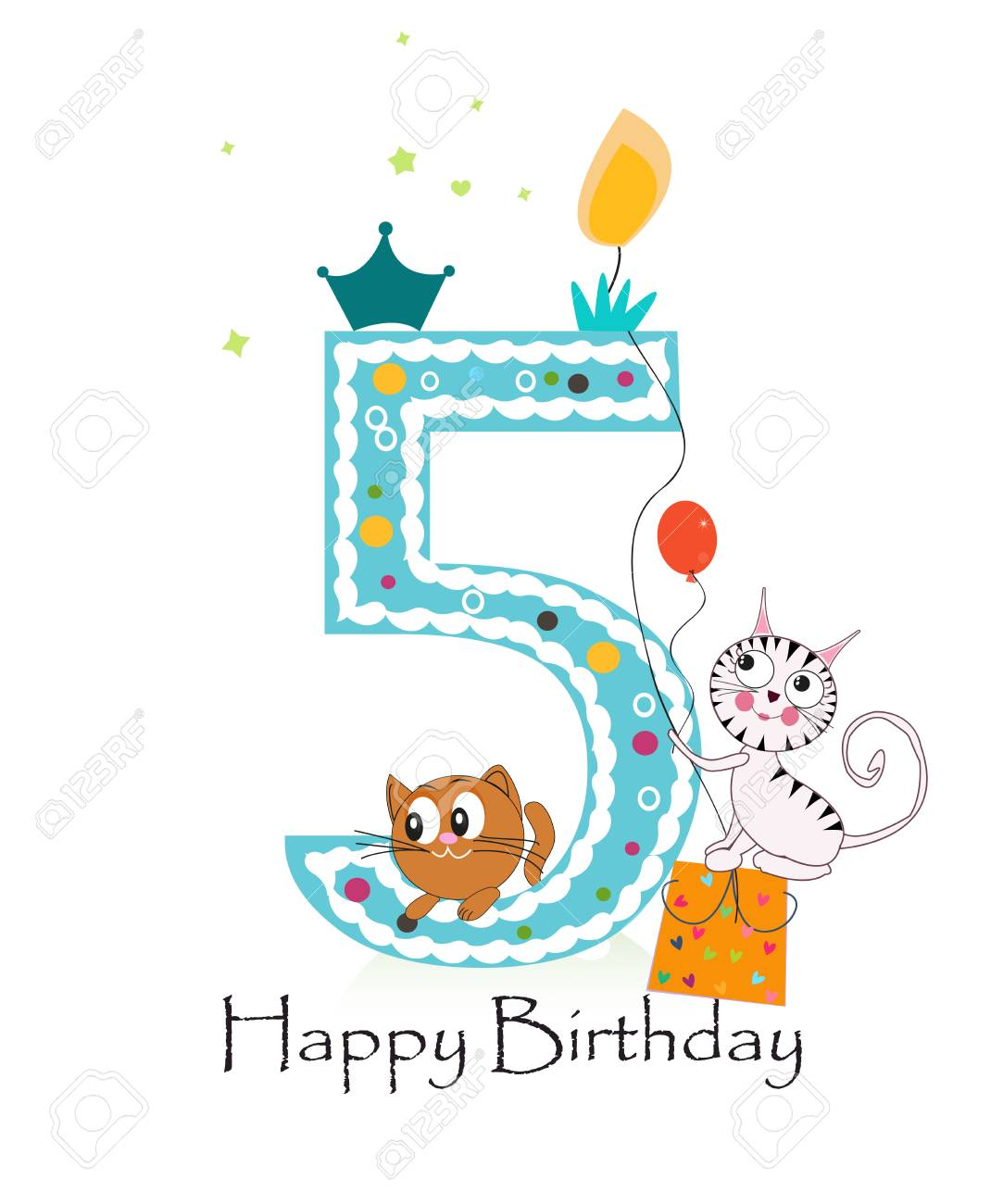 Happy Birthday Greeting Card Standard Bild