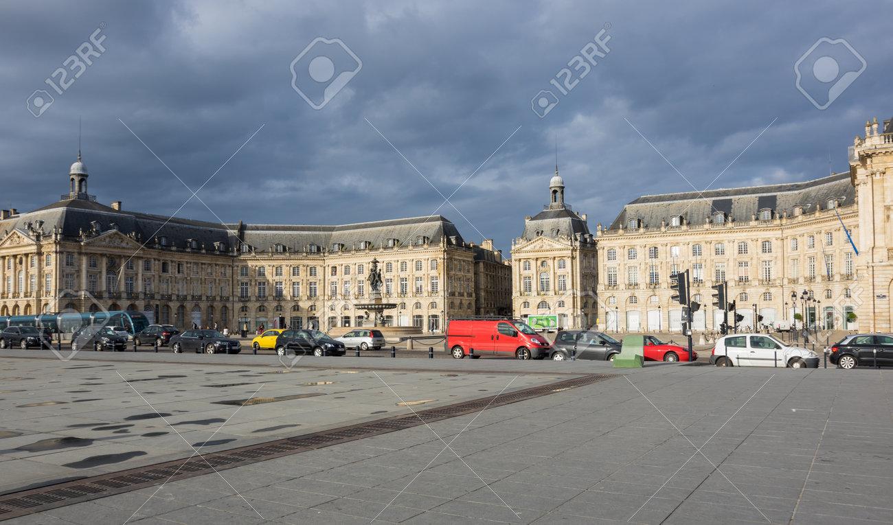 Bordeaux France May 06 2015 Place De La Bourse In Bordeaux