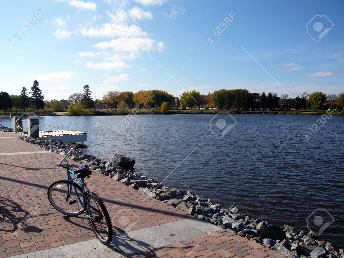 Lake George Mn >> A Bike By Lake George St Cloud Minnesota Usa