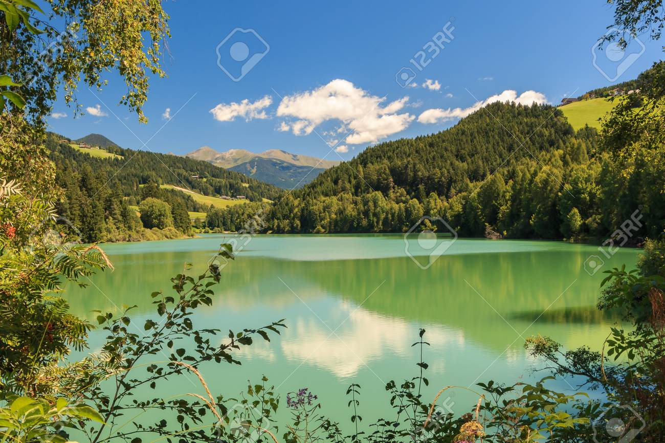 newest 1c6eb 2dc04 Great view of the Lake Olang-Valdaora. Dolomiti alps, South Tyrol,..
