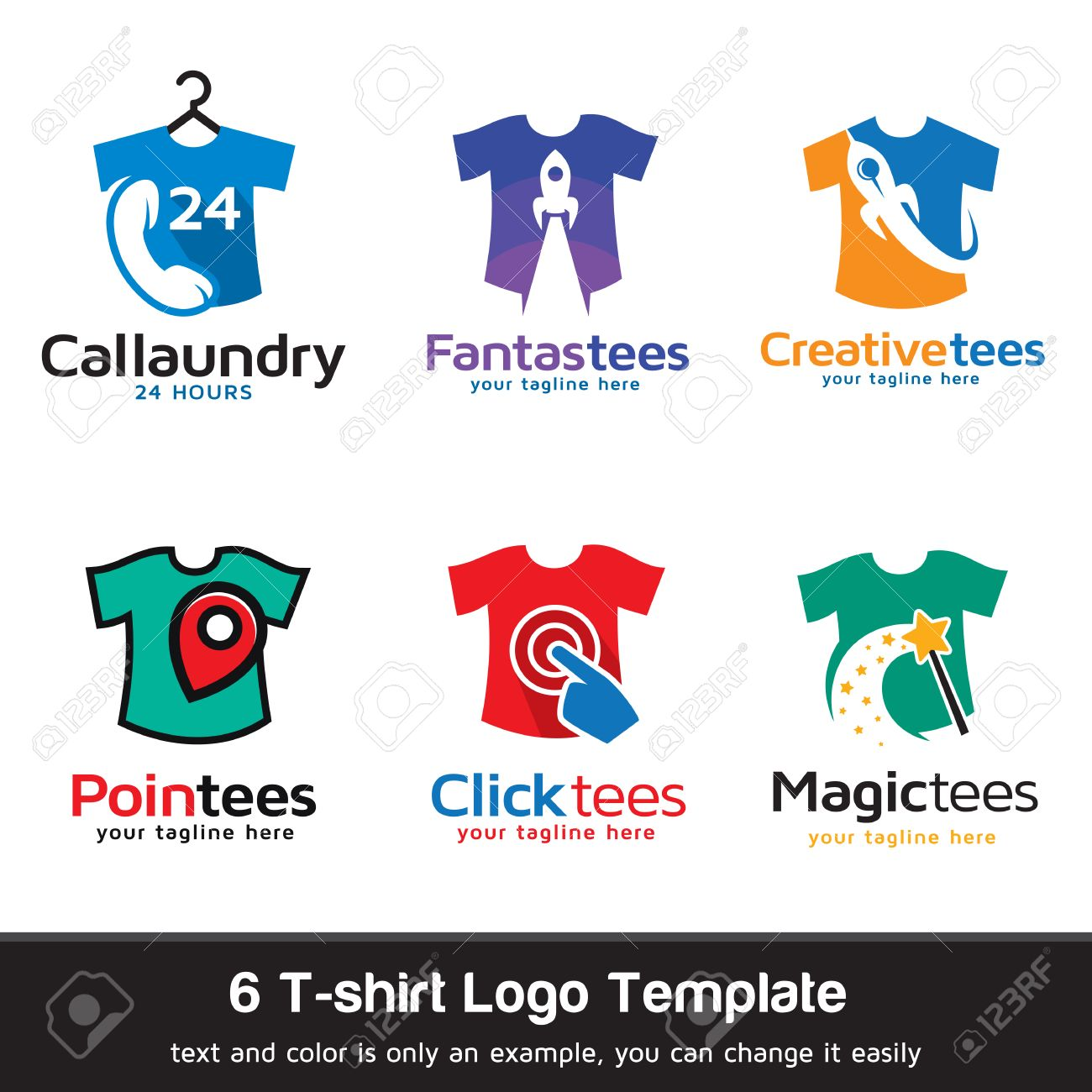 T-shirt - Fashion Logo Template Design Vector Royalty Free Cliparts ...