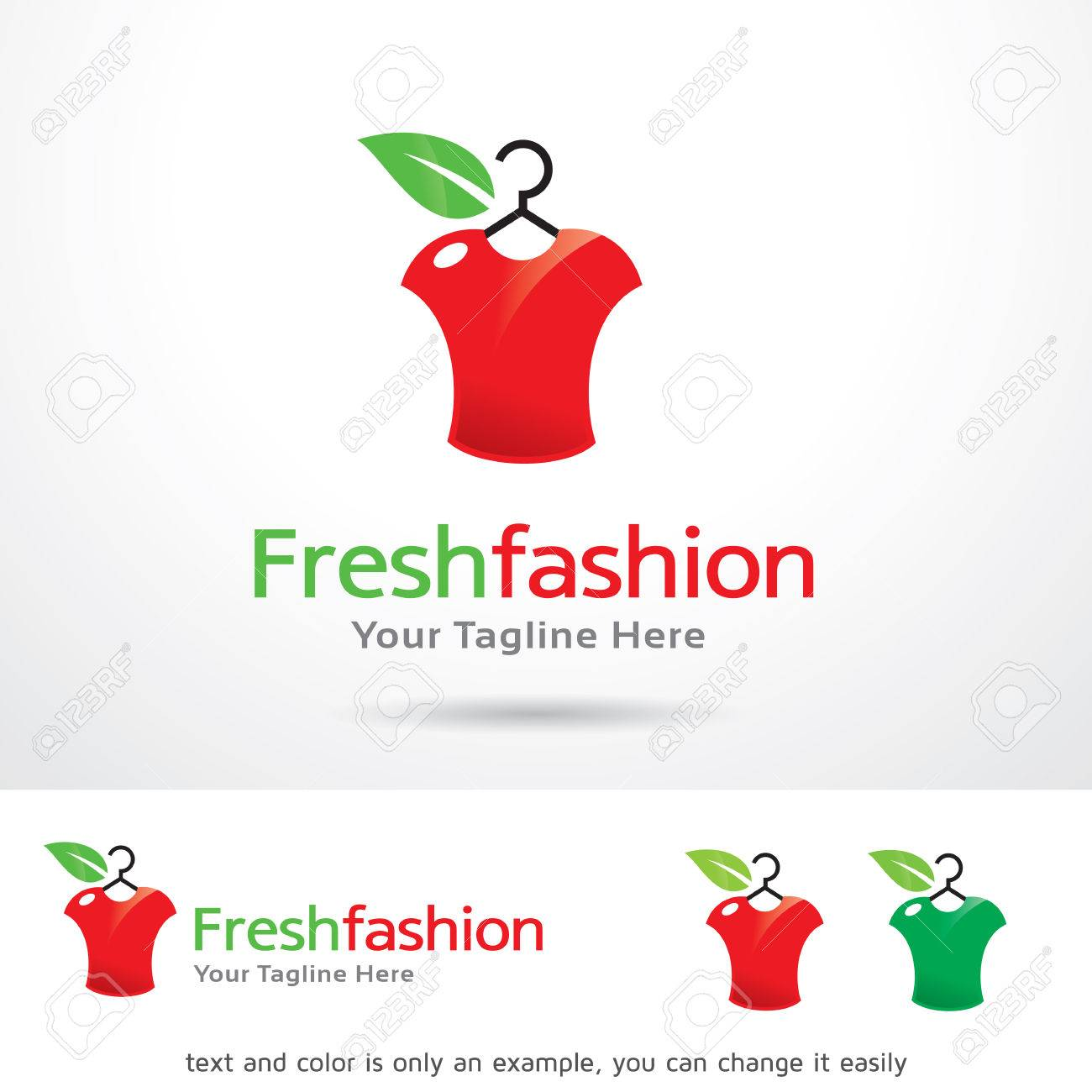 Fresh Fashion Logo Template Design Vector Royalty Free Cliparts ...