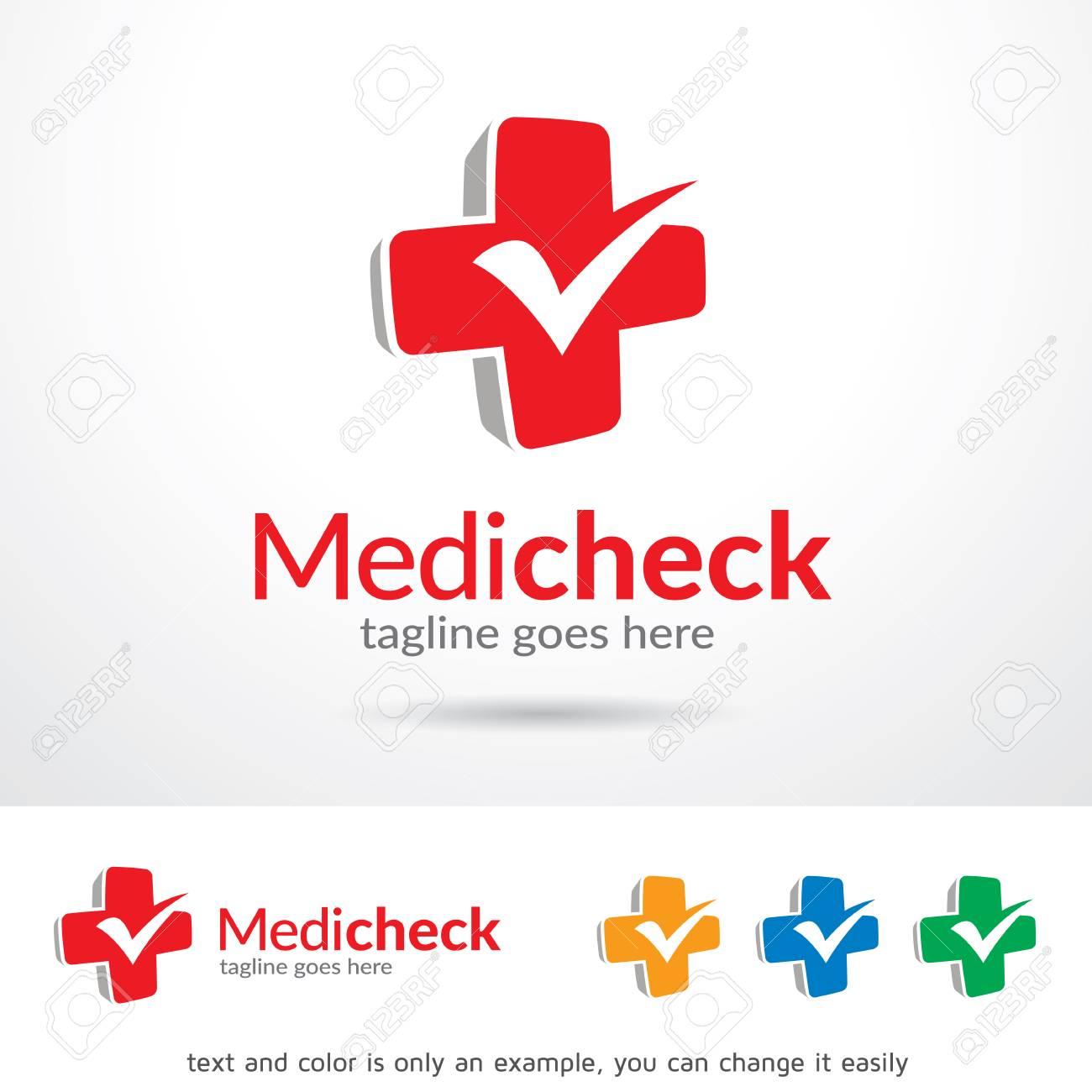 medic check template design vector royalty free cliparts vectors