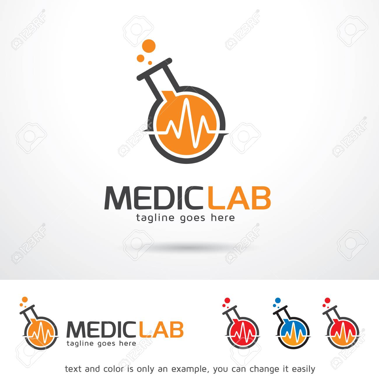 medic lab template design vector royalty free cliparts vectors and