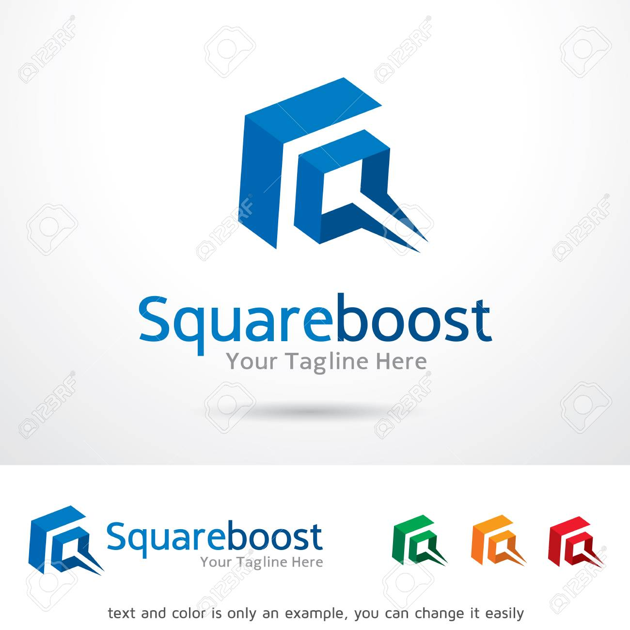 Square Boost Logo Template Design Vector Royalty Free Cliparts ...