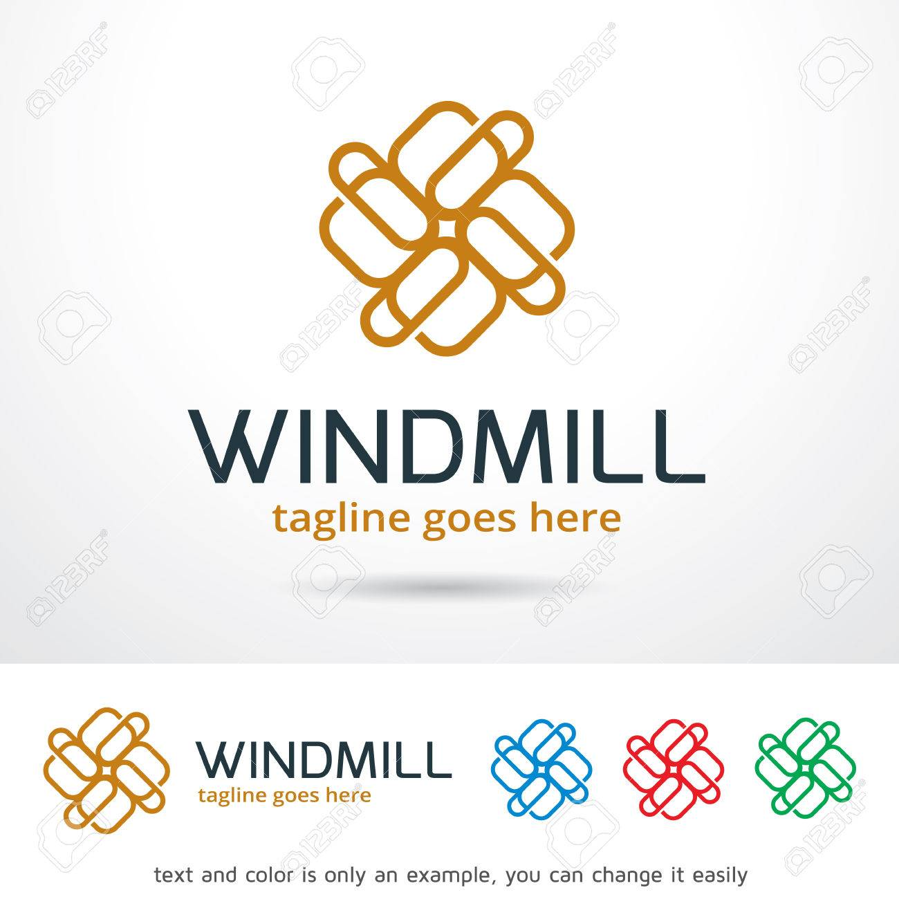windmill abstract logo template design vector royalty free cliparts