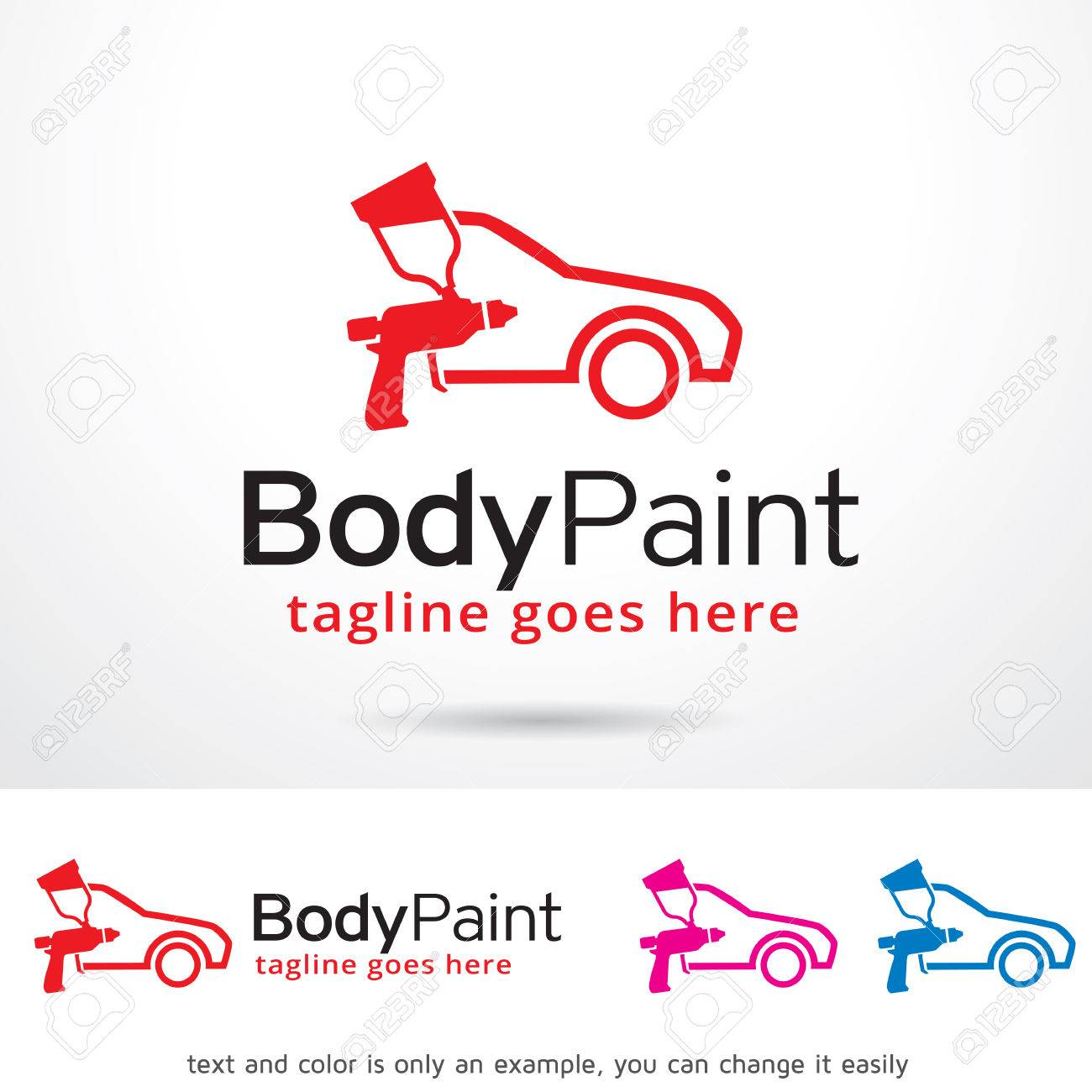 Car Body Paint Logo Template Design Vector