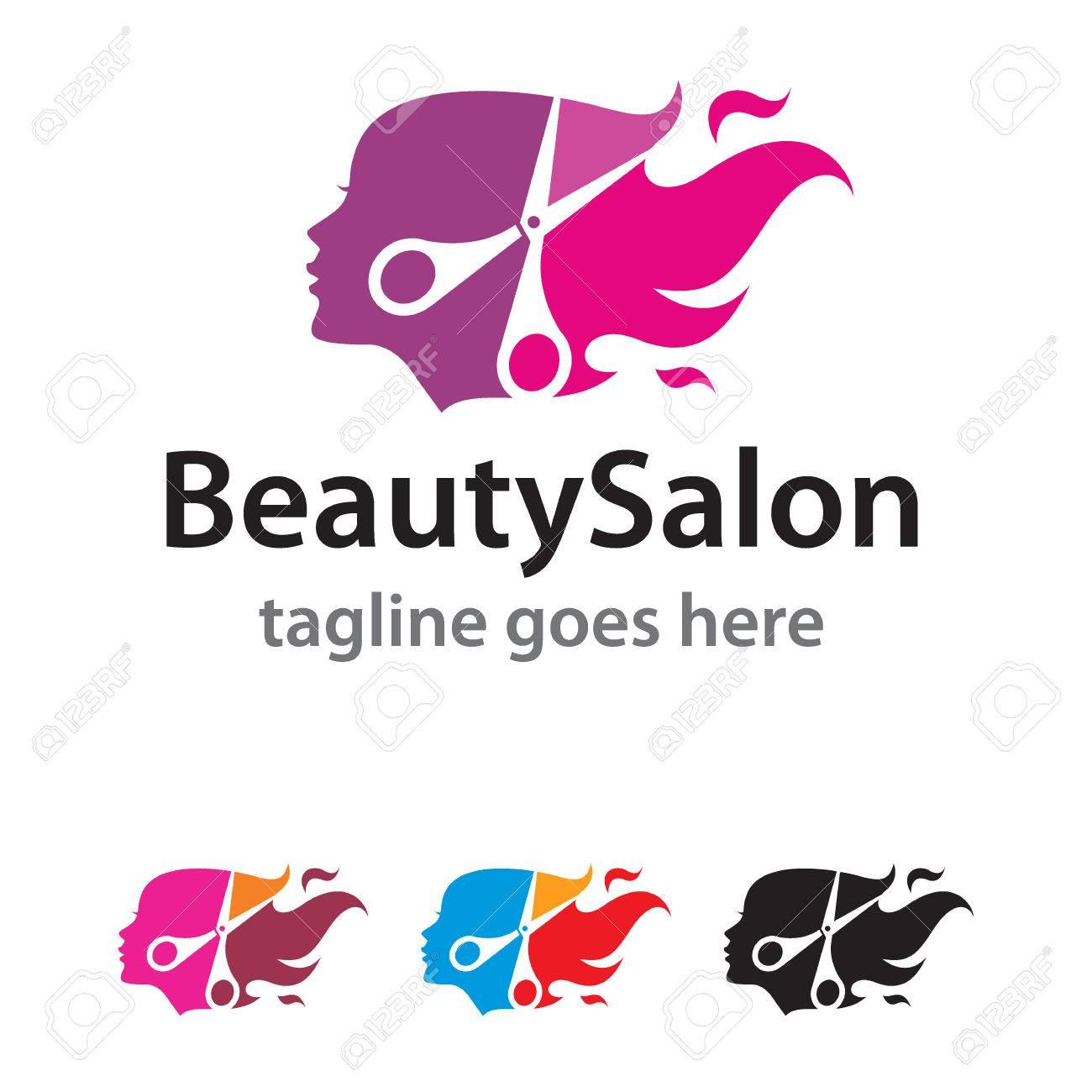 Beauty salon logo template design vector royalty free cliparts beauty salon logo template design vector stock vector 68563479 altavistaventures Images