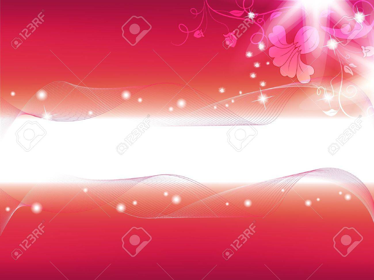 Beautiful flower background. Flowers and stars on a bright background. Place Your text if necessary Stock Vector - 9391655