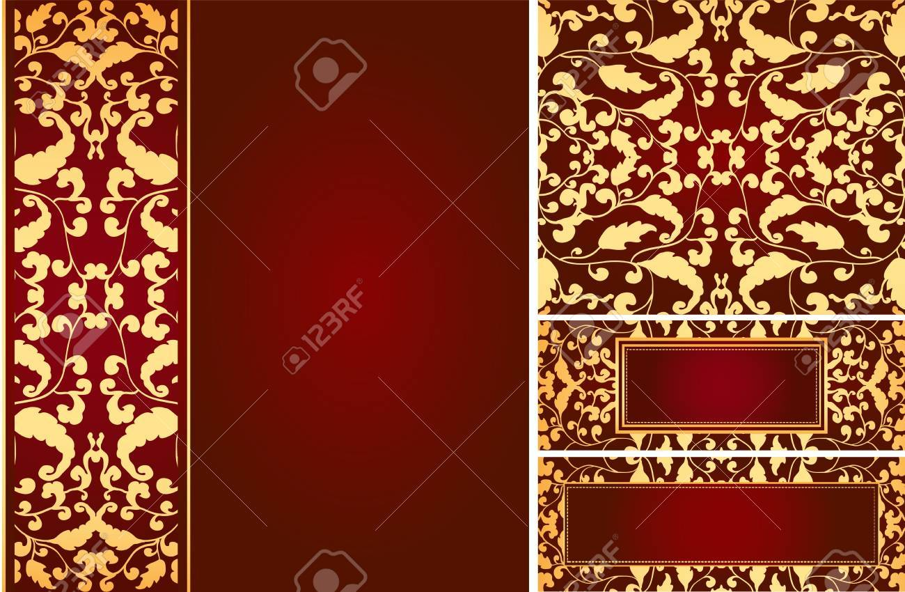 Vintage leaf ornaments. Beautiful bright colors. Stock Vector - 9932741
