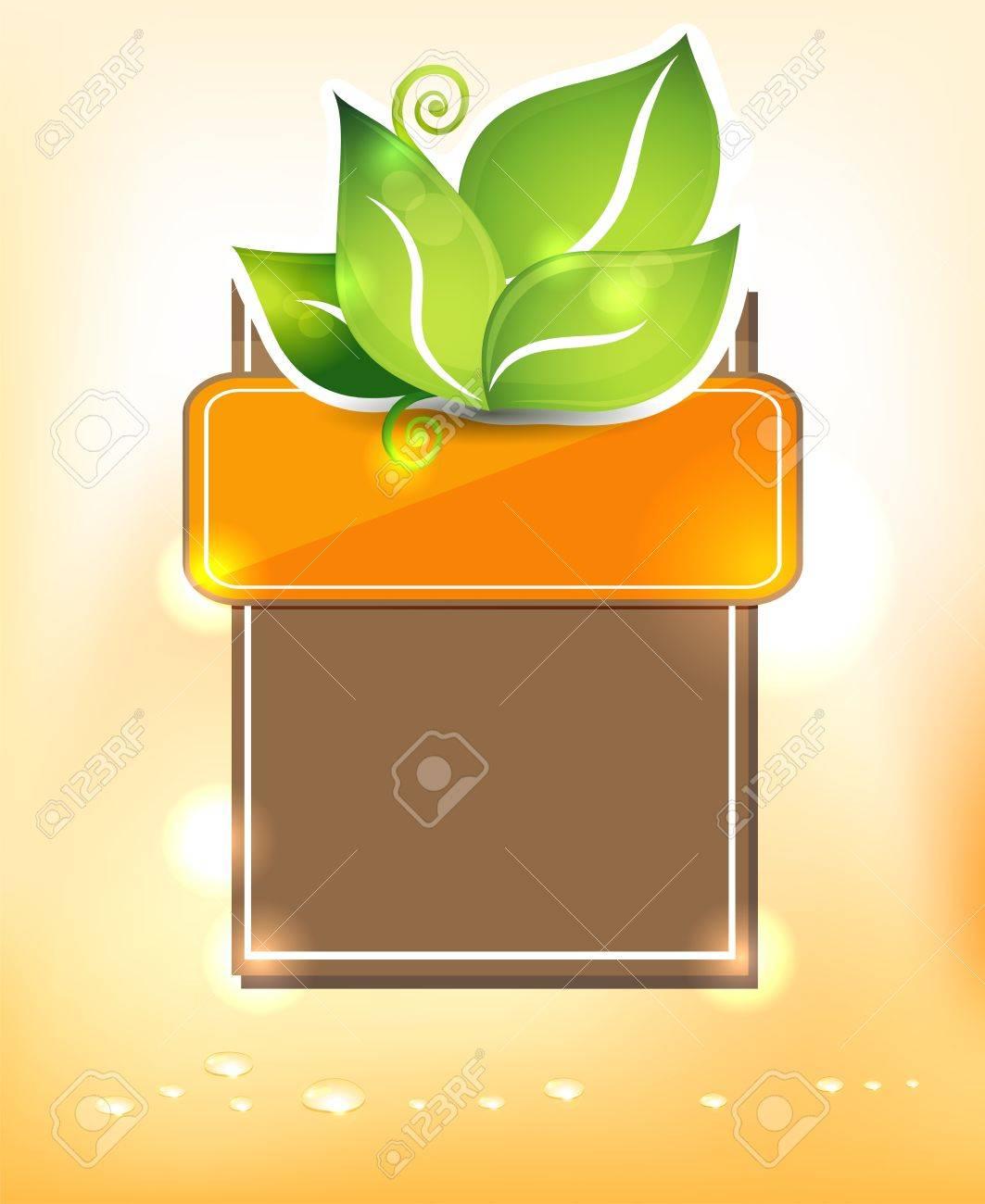 Mooie template design met groene bladeren harmonische en felle ...