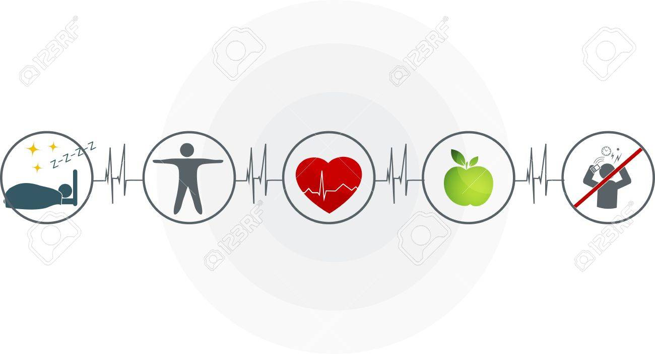 Abstract cardiogram and health care symbols connected healthy abstract cardiogram and health care symbols connected healthy heart depends of good sleep fitness buycottarizona Images