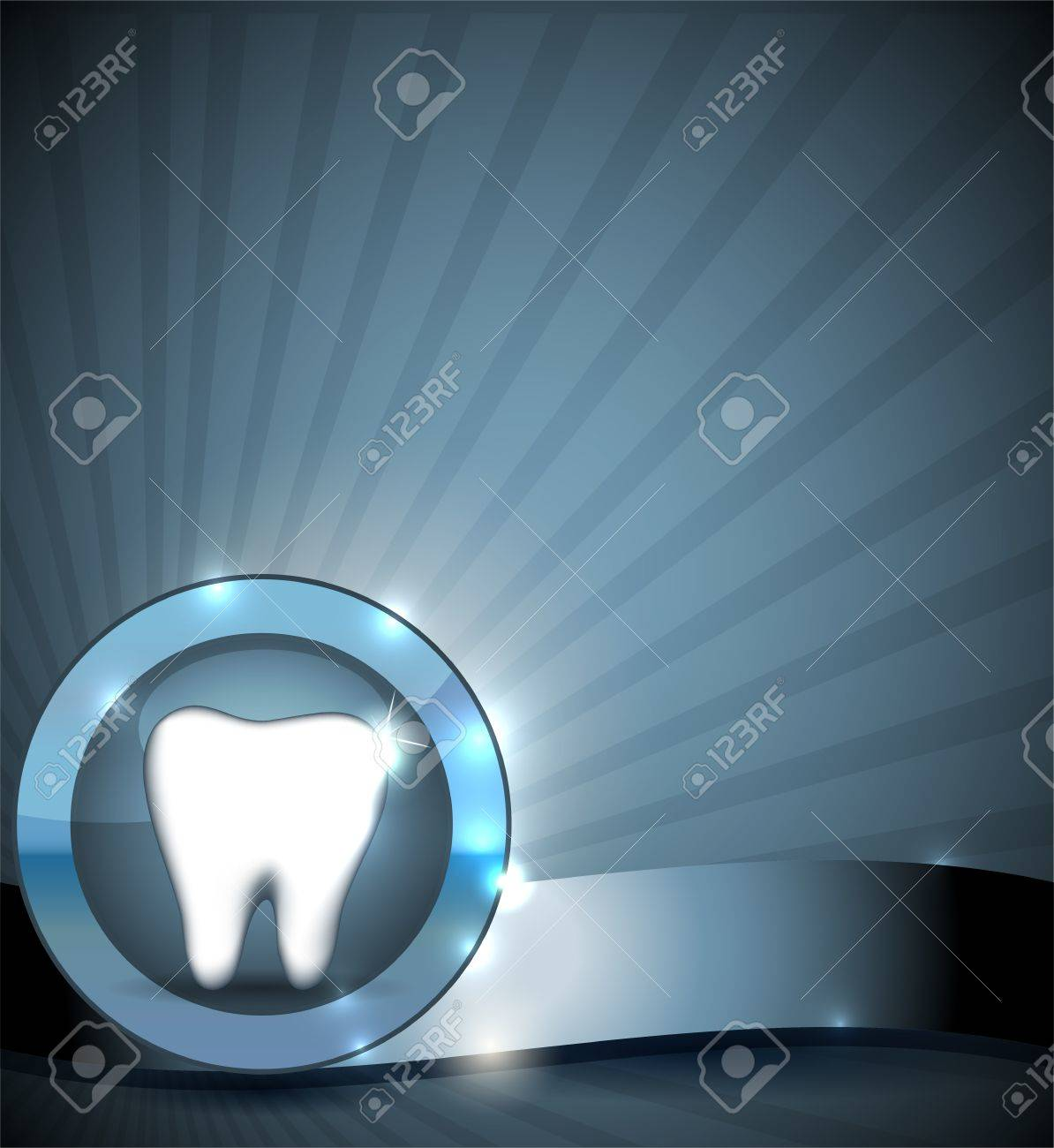 Dental sign, brochure design  Healthy tooth in round circle  Clean and bright design Stock Vector - 21953257