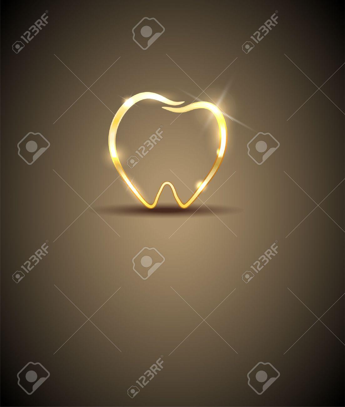Beautiful tooth illustration  Luxury dental care Stock Vector - 22108879