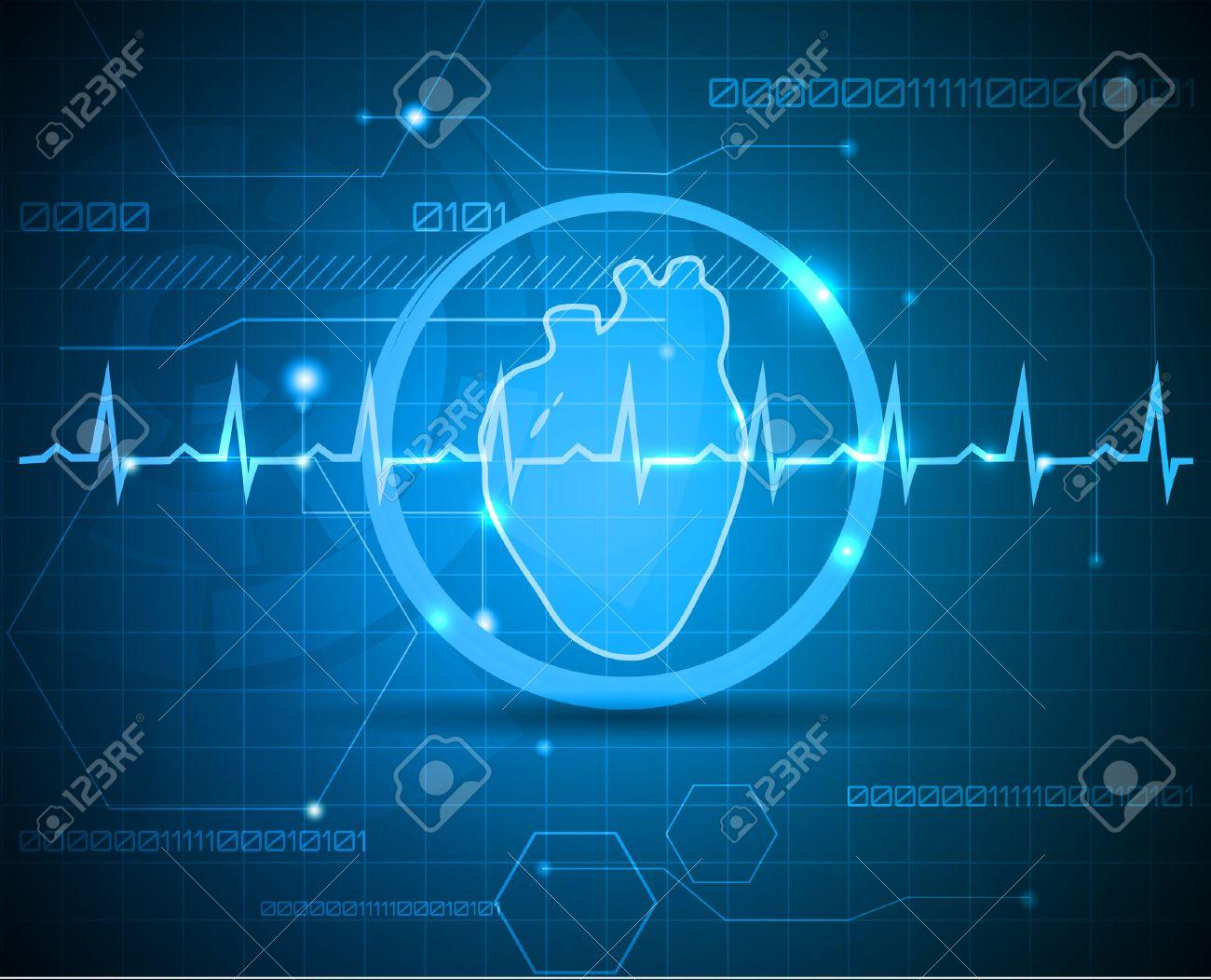 Menschliche Anatomie Des Herzens. Abstrakte Medizinische Hintergrund ...