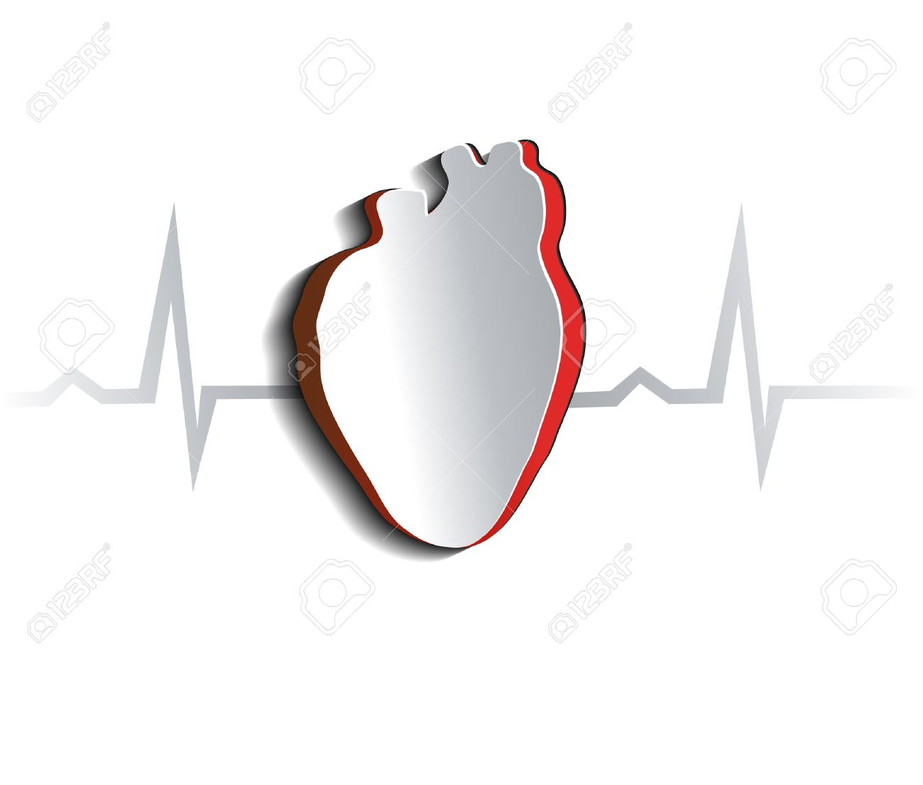 anatomy of human heart abstract design cut out heart shape
