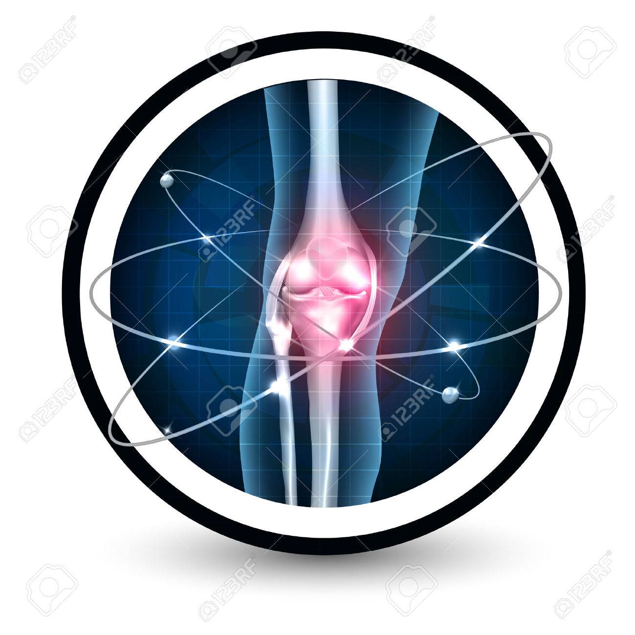 Knee joint health care protection icon - 78251925