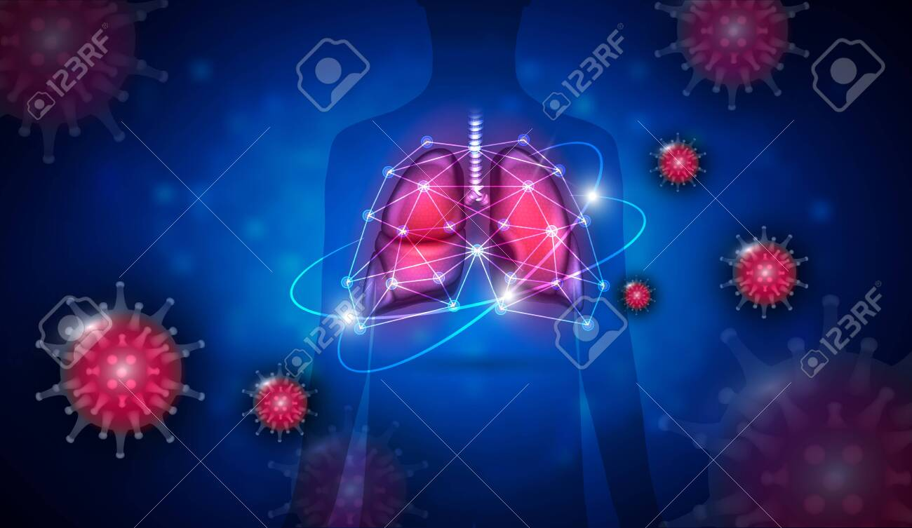 Pneumonia caused by Coronavirus respiratory tract infection complication, treatment concept - 143852663