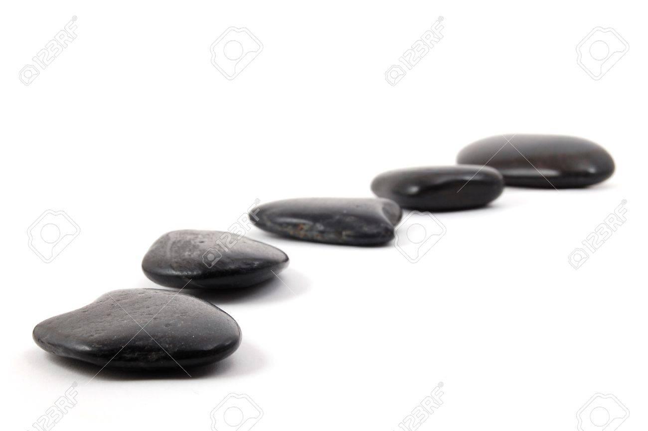 zen stones isolated on a white background Stock Photo - 4163779