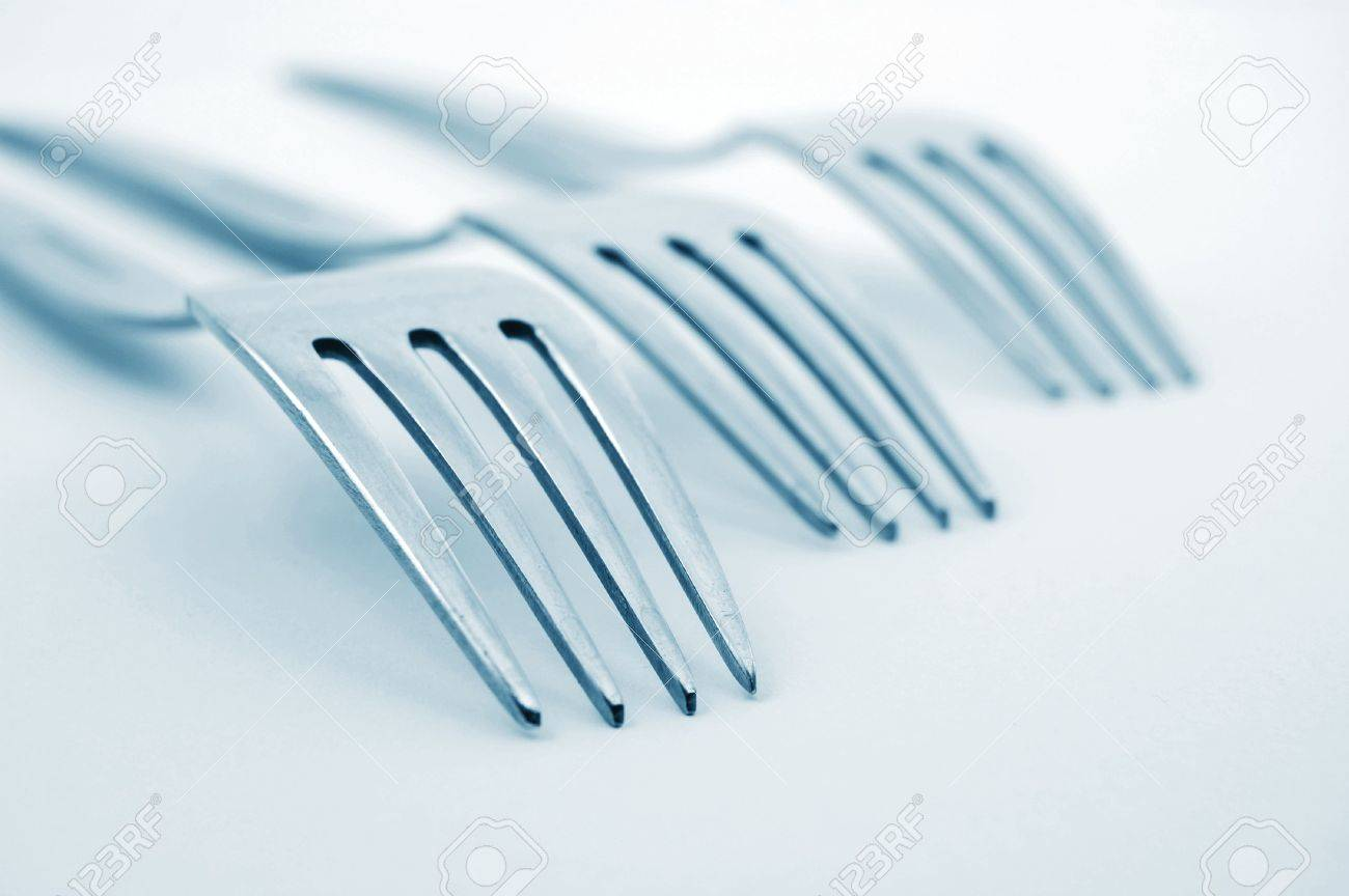 abstract fork background as a food concept Stock Photo - 4607026