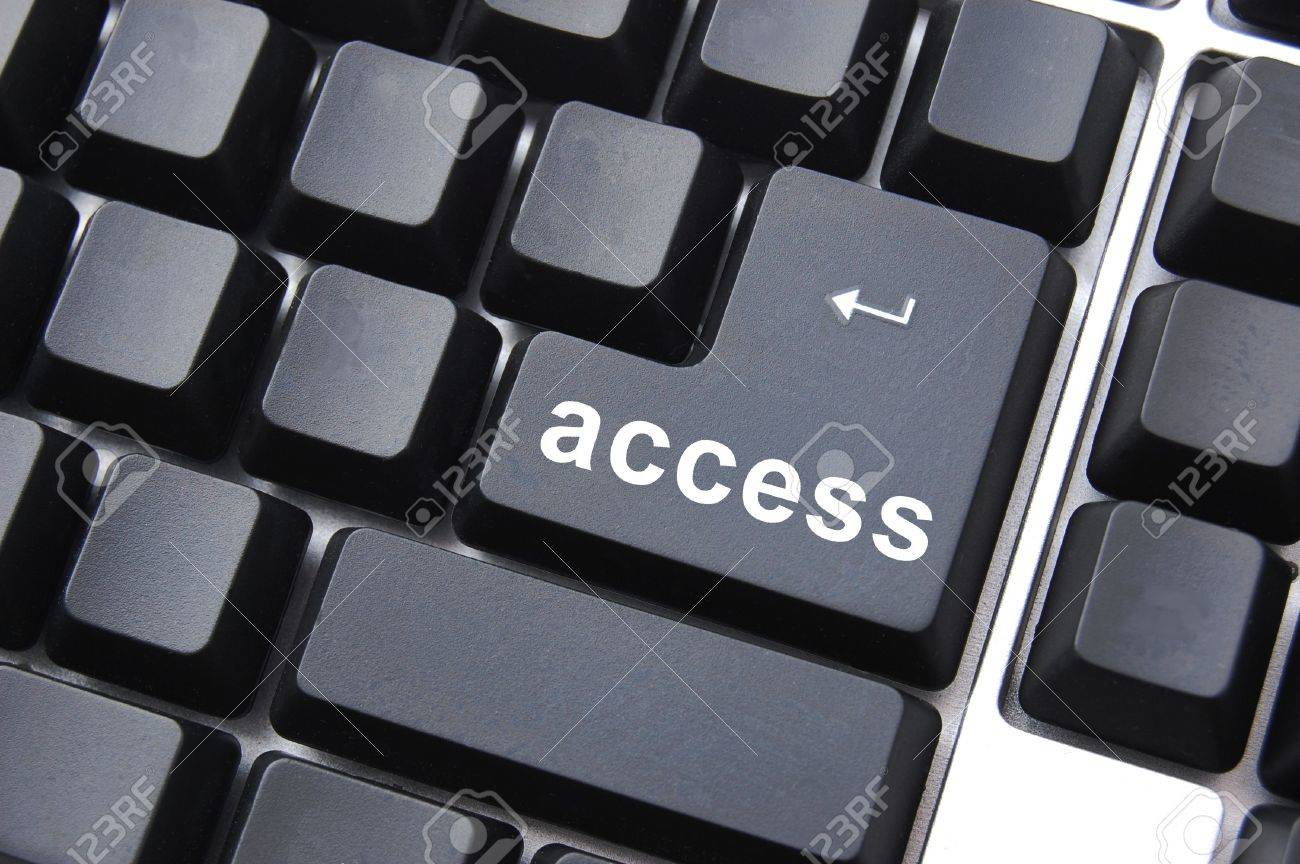 black access button on a computer keyboard Stock Photo - 5115631